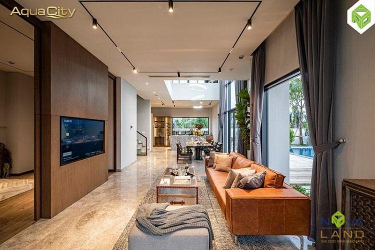 Thiết kế phòng khách trong Aqua City