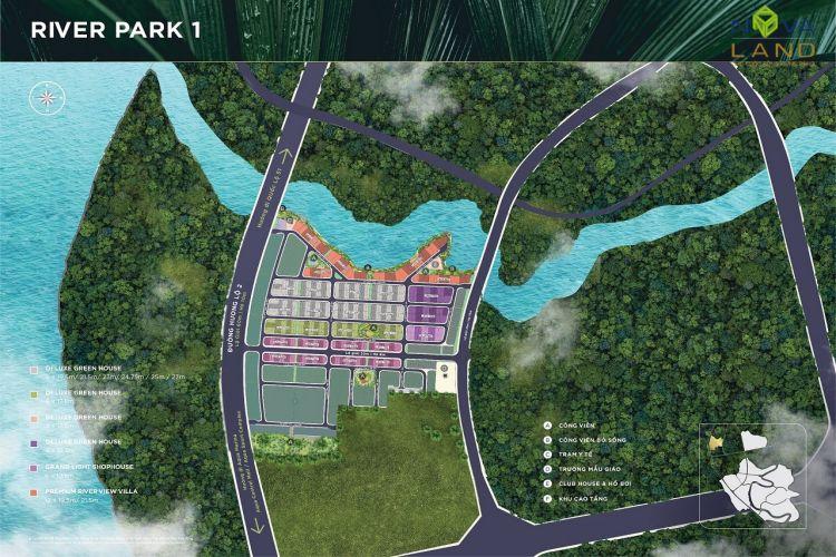 Phân khu River Park 1 trong dự án đô thị Aqua City