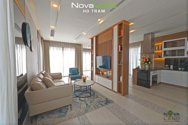 Thiết kế phòng khách tại NovaWorld Hồ Tràm