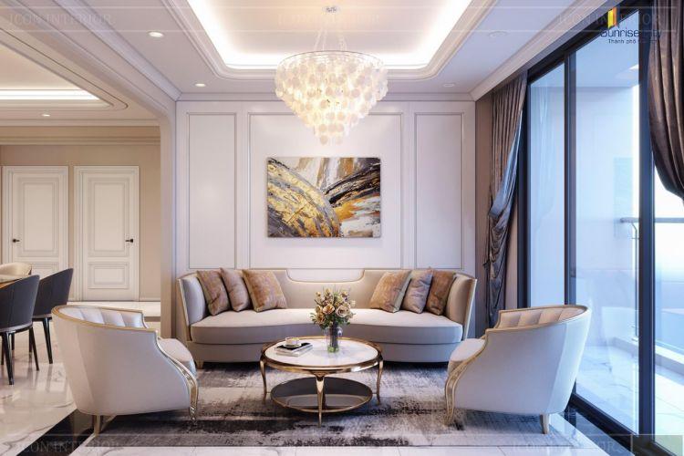 Thiết kế phòng khách căn hộ Sunrise City