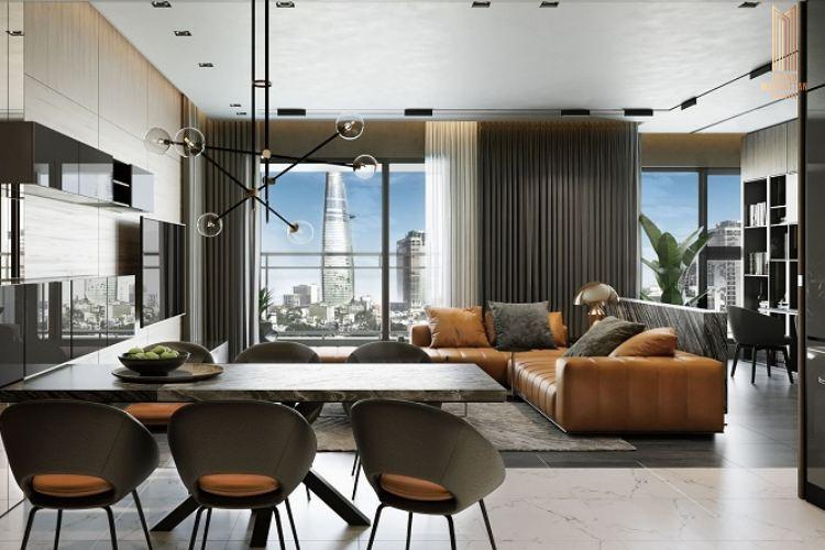 Thiết kế phòng kháchdự án chung cư The Grand Manhattan