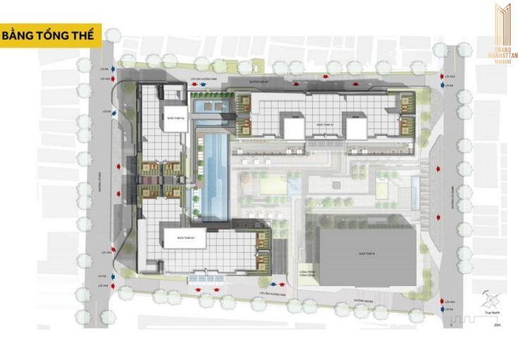 Mặt bằng tổng thể dự án căn hộ The Grand Manhattan