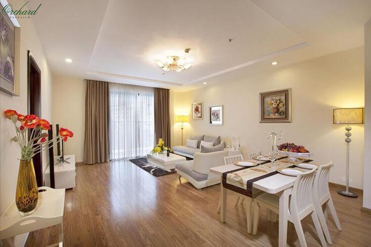 Thiết kế phòng khách căn hộOrchard Parkview
