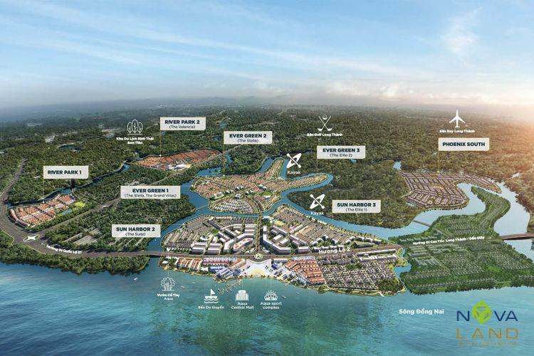 Mặt bằng tổng thể dự án đô thị Aqua City